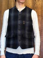 "Wool melton worker's vest ""YAZOO COUNTRY"""
