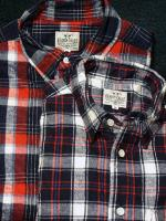 covered button down flannel shirt
